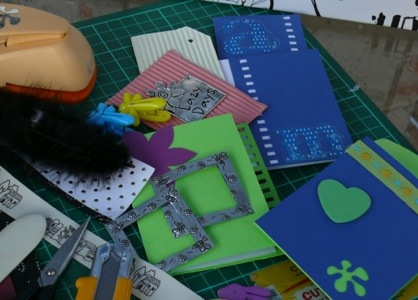 Reduce, first of three R's of Recycling, make greeting cards yourself